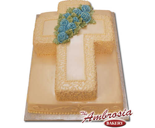 Cross On Fondant Sheet Cake