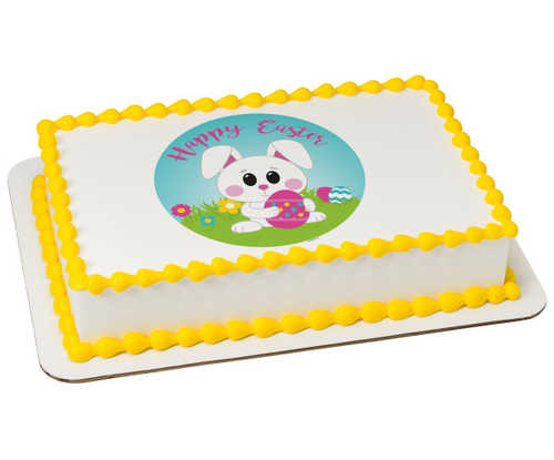 Happy Easter Bunny PhotoCake® Edible Image®