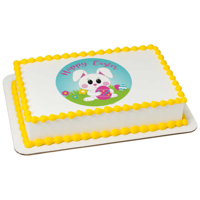 Happy Easter Bunny PhotoCake® Edible Image®