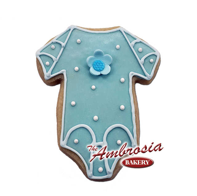 Decorated Baby Onesie Cut-Out-Cookie