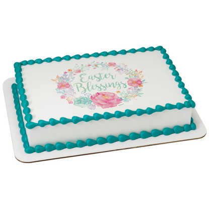 Floral Easter Blessings PhotoCake® Image