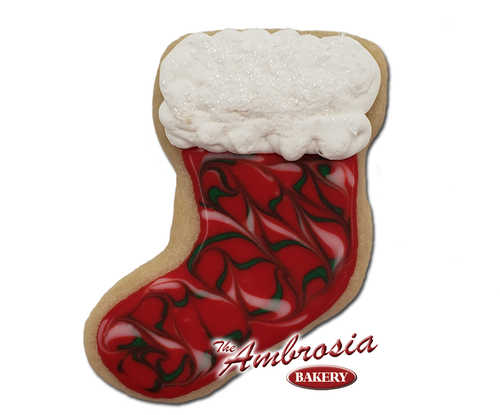 Decorated Stocking Cut-Out Cookie