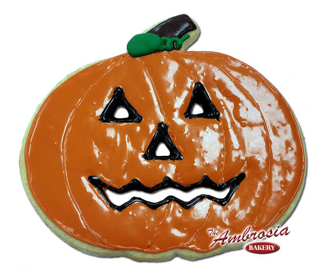 Decorated Extra Large Cut-Out Pumpkin Cookie!