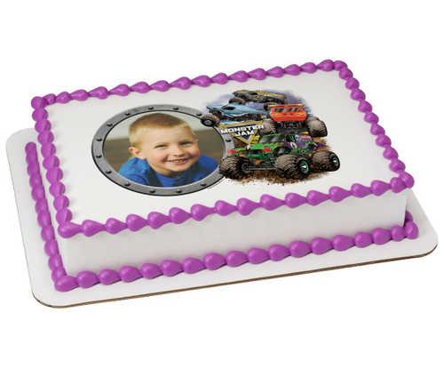 NEW! Monster Jam® Crunch Time PhotoCake® Edible Image® Frame