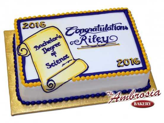 Graduation Scroll Cake