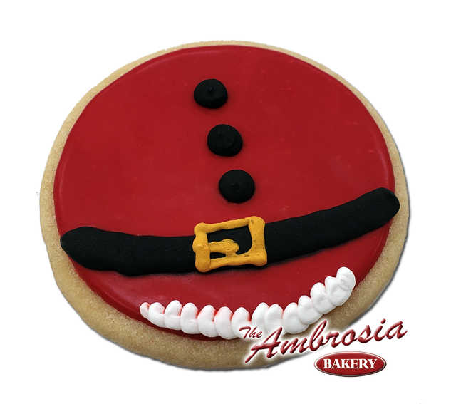 Decorated Santa Belly Cut-Out Cookie