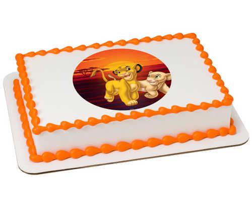 Disney The Lion King Simba and Nala PhotoCake® Edible Image®
