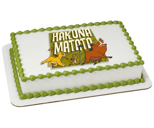 Disney The Lion King Hakuna Matata PhotoCake® Edible Image®