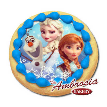 Disney FROZEN - Olaf, Elsa and Anna, Edible Image® Cookie