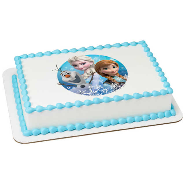 Disney - Frozen Olaf, Elsa and Anna PhotoCake®