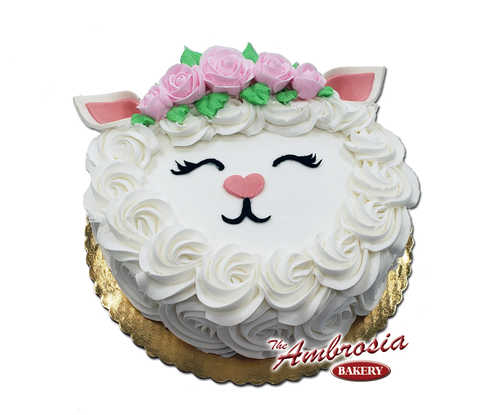 Easter Lamb Single Layer Cake