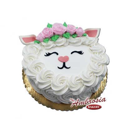 Easter Lamb Single Layer Cake
