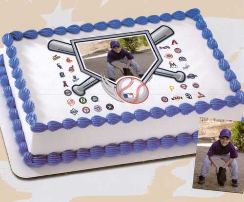 MLB - Baseball Diamond PhotoCake®