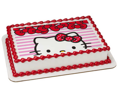 Hello Kitty® Big Smiles PhotoCake® Edible Image®