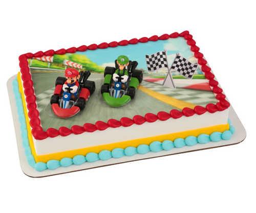 Super Mario™ Mario Kart™ PhotoCake® DecoSet® Background with Kit