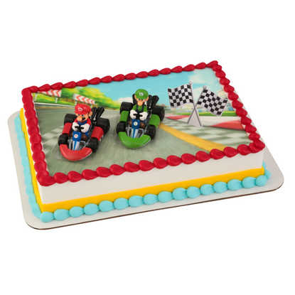 Super Mario™ Mario Kart™ PhotoCake® DecoSet® Background with Kit