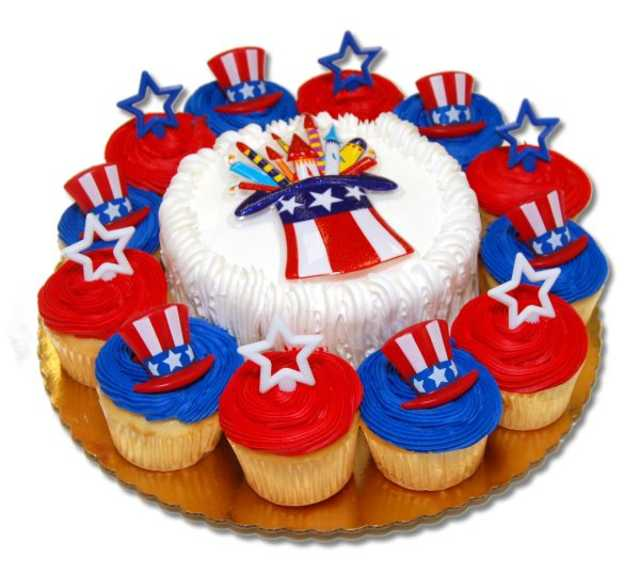 4th Of July Cupcakes With 6 Inch Round