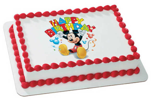 Disney Mickey Mouse and Friends - Happy Birthday! PhotoCake®