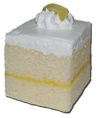 Lemon Filled Cake Square