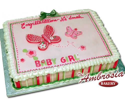 Baby Girl Butterfly's Shower Cake