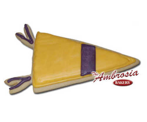 Pennant Cut-Out Cookie