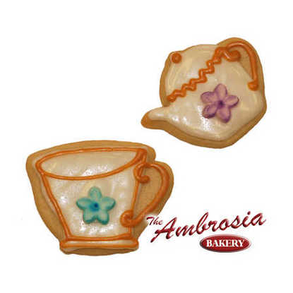 Tea Pot and Cup Cut-Out Cookies