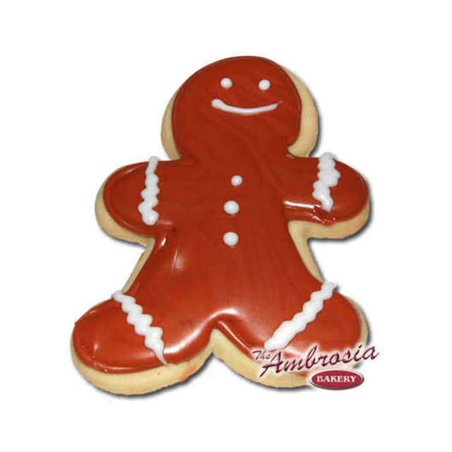 Decorated Gingerbread Man Cut-Out Cookie