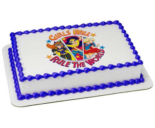 DC Super Hero Girls™ Girls Rule PhotoCake® Edible Image®