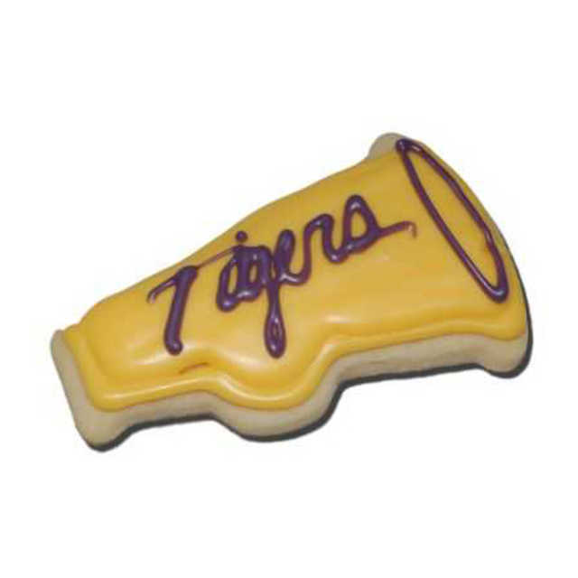 Decorated Megaphone Cut-Out Cookie