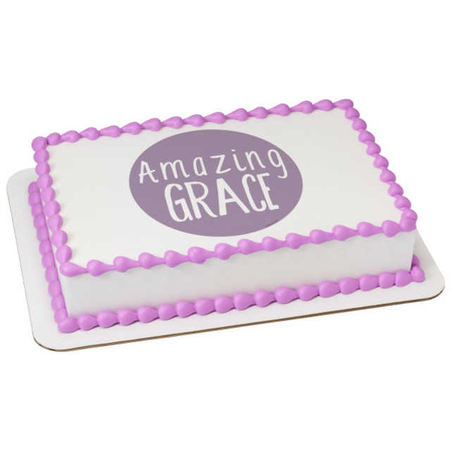 Watercolors Amazing Grace PhotoCake® Edible Image®