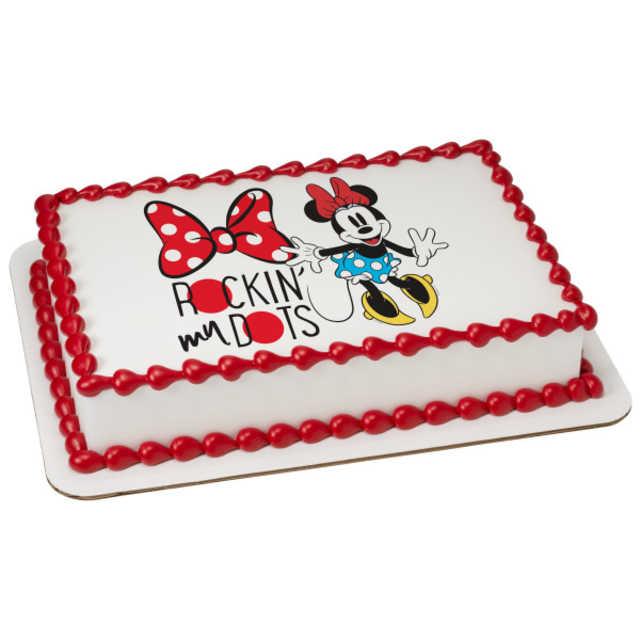 Disney - Minnie Mouse Rockin' My Dots PhotoCake® Image
