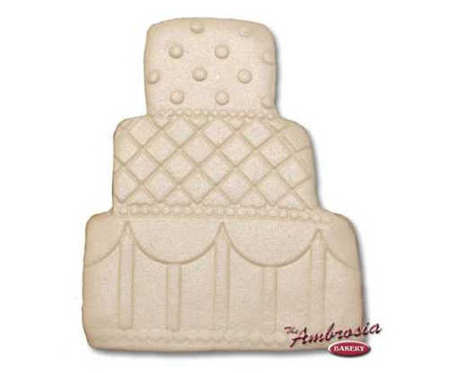 Decorated Wedding Cake Cut-Out Cookie #2