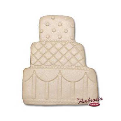 Wedding Cake Cut-Out Cookie #2