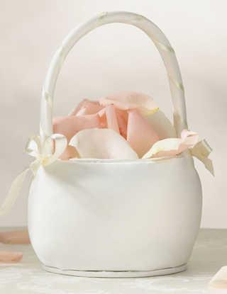Flower Basket - Ivory Round
