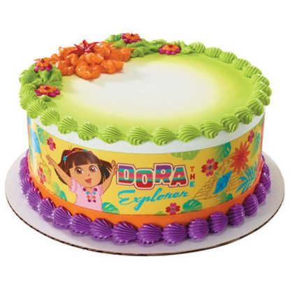Dora the Explorer Plaza Del Sol PhotoCake® Image Strips