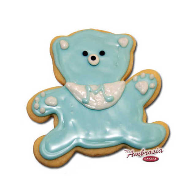 Decorated Teddy Bear Cut-Out Cookie