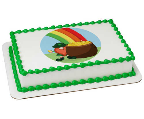 Rainbow Pot Of Gold - St. Patrick's Day PhotoCake® Edible Image®