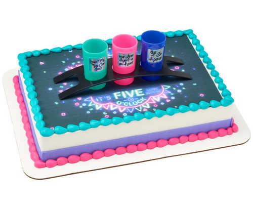 Sip Sip Hooray PhotoCake® Edible Image® DecoSet® Background