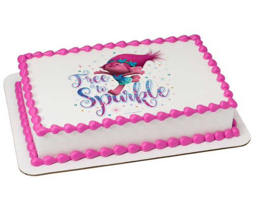 DreamWorks - Trolls Free to Sparkle PhotoCake® Edible Image®