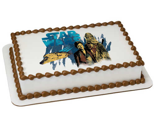 Solo: a Star Wars™ Story Han and Chewie PhotoCake® Edible Image®