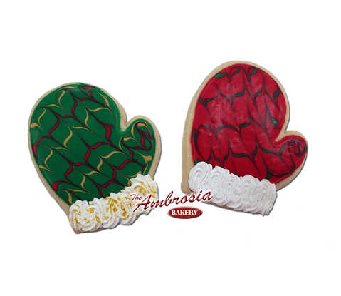 Santa Mitten Cut-Out Cookie