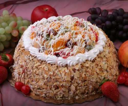 Fruit and Almond Cheesecake