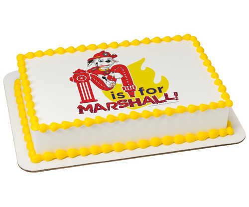 PAW Patrol M is for Marshall PhotoCake® Image