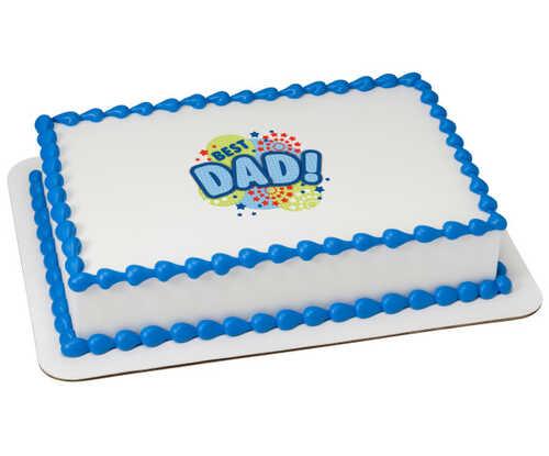 Best Dad Edible Image® Stars