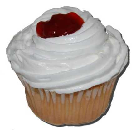 Sugar Free Cup Cake with Cherry