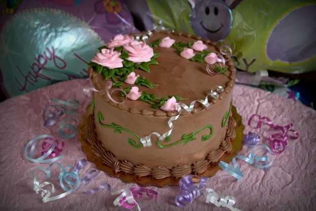 Double Layer Decorated Cakes