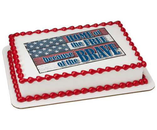 Home of the Brave PhotoCake® Image Cake