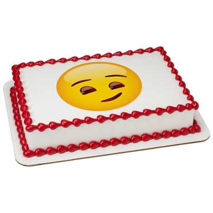 Emoji Smirking PhotoCake庐 Image