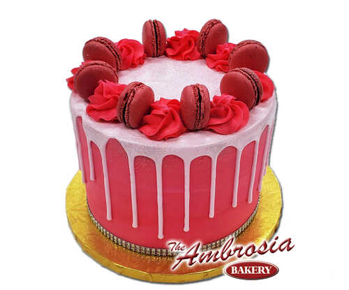 Raspberry Macaron Cake!