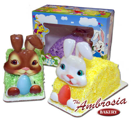 Bunny In A Box with Coconut Icing or Airbrush